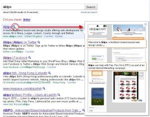 NI Web Design - Google Instant Preview 1
