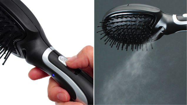 USB Self-Misting Hairbrush